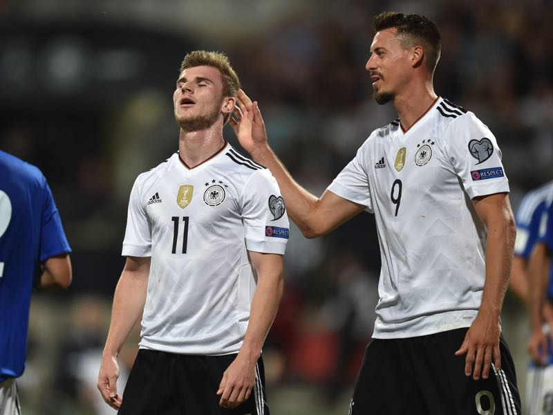 Timo Werner and Sandro Wagner could easily play together up front.(CHRISTOF STACHE/AFP/Getty Images)
