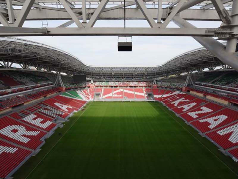 Germany vs Chile will take place at the Kazan Arena (Photo by Matthias Hangst/Bongarts/Getty Images)