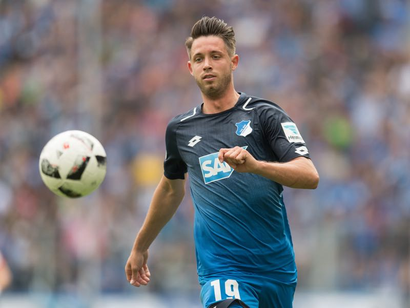 Hoffenheim's Mark Uth has been identified as a possible replacement for Modeste. (Photo by Daniel Kopatsch/Bongarts/Getty Images)