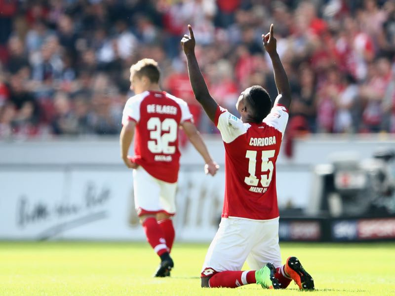 Jhon Córdoba role at Mainz went beyond scoring goals. (Photo by Alex Grimm/Bongarts/Getty Images)