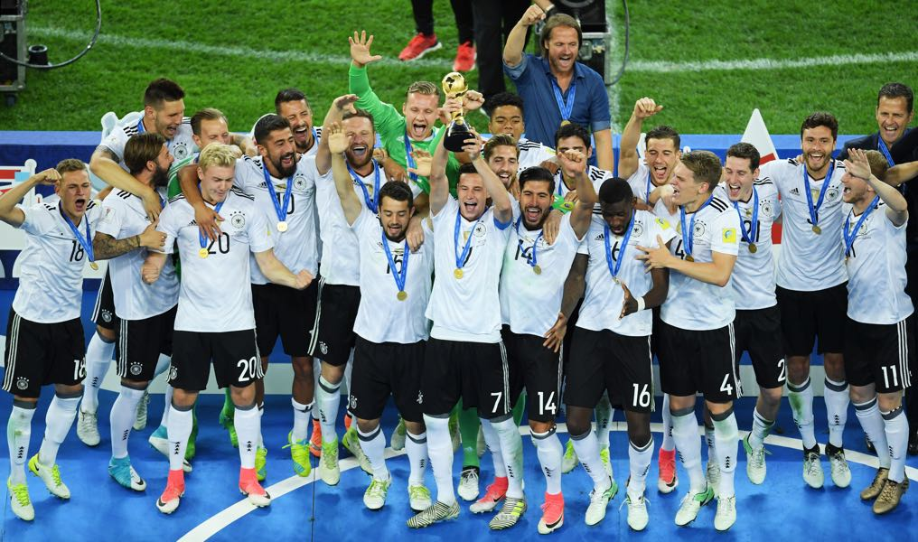 Germany win the Confederations Cup. (Photo by Matthias Hangst/Bongarts/Getty Images)