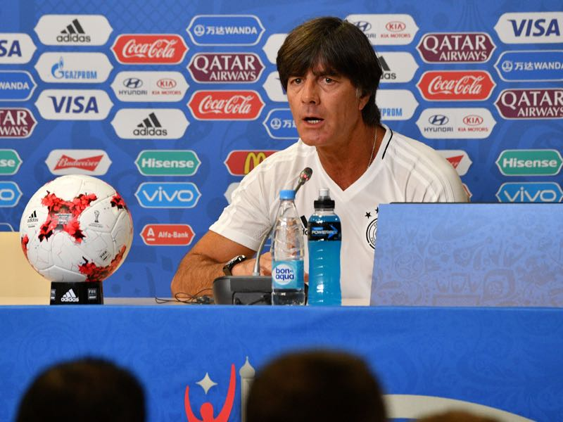 Joachim Löw at the press conference at the Krestovsky Stadium in Saint Petersburg. (MLADEN ANTONOV/AFP/Getty Images)