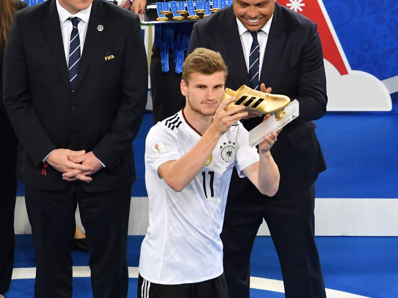 Timo Werner won the Golden Boot at the 2017 FIFA Confederations Cup and was Leipzig's top scorer last season. (YURI CORTEZ/AFP/Getty Images)