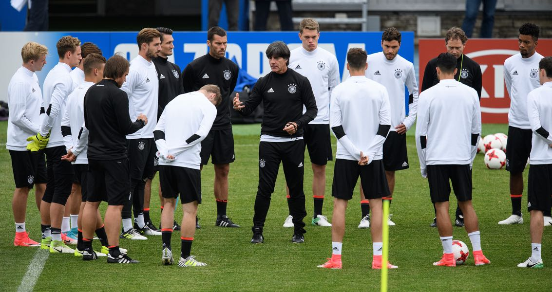 Joachim Löw has a pool of 50 players to chose from next summer. (Photo by Matthias Hangst/Bongarts/Getty Images)