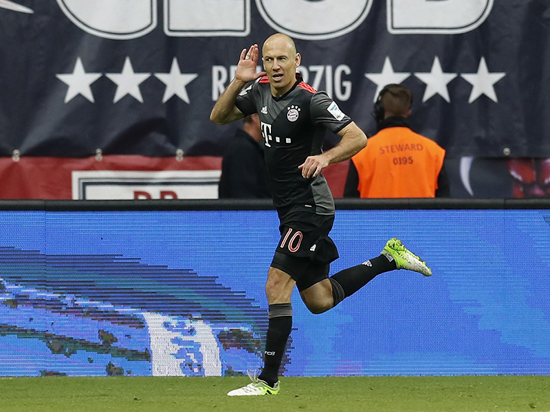Arjen Robben and Bayern München gave Leipzig a footballing lesson last season. (Photo by Boris Streubel/Bongarts/Getty Images)