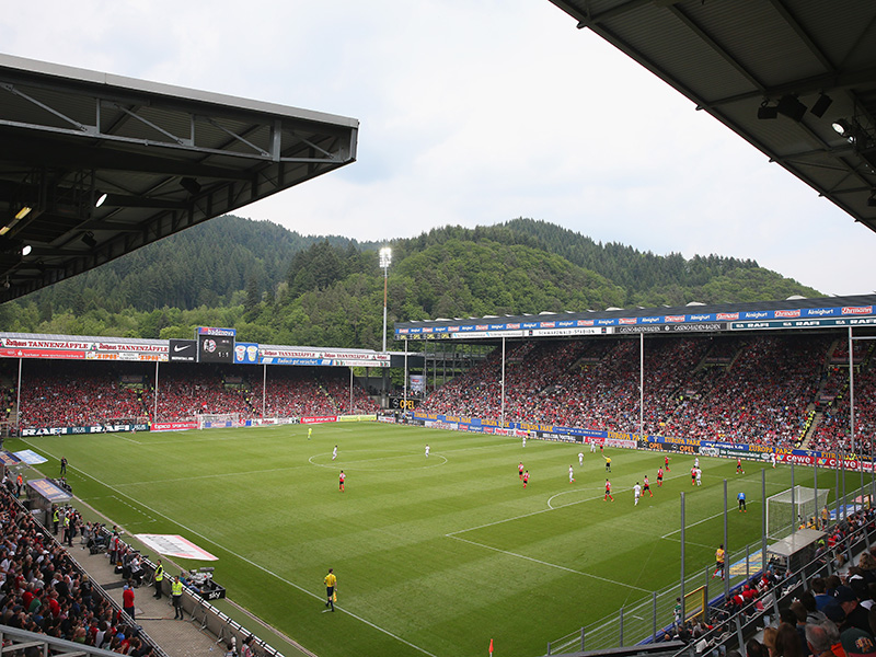 SC Freiburg vs Borussia Dortmund will take place at the Schwarzwald Stadion in Freiburg. (Photo by Alexander Hassenstein/Bongarts/Getty Images)