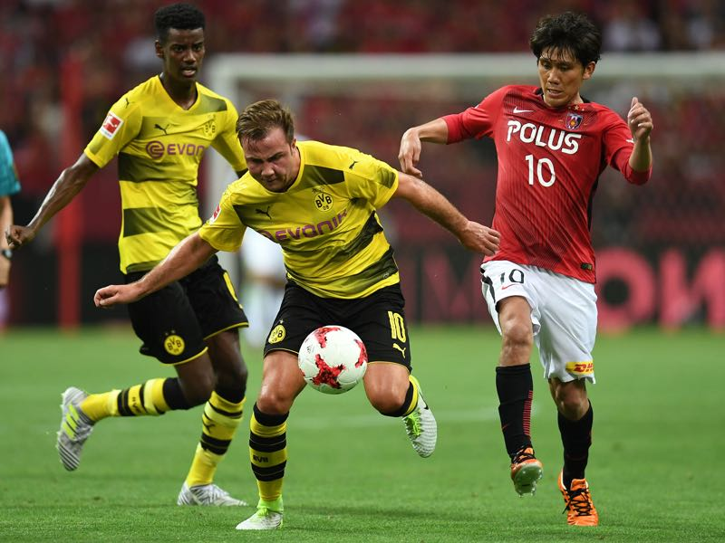 Borussia Dortmund travelled to Japan to play a friendly against Urawa Red Diamonds. (Photo by Atsushi Tomura/Getty Images)