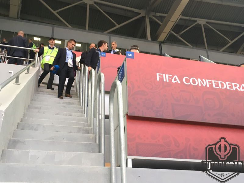 Marco van Basten is part of a FIFA delegation observing this game. Image by Manuel Veth
