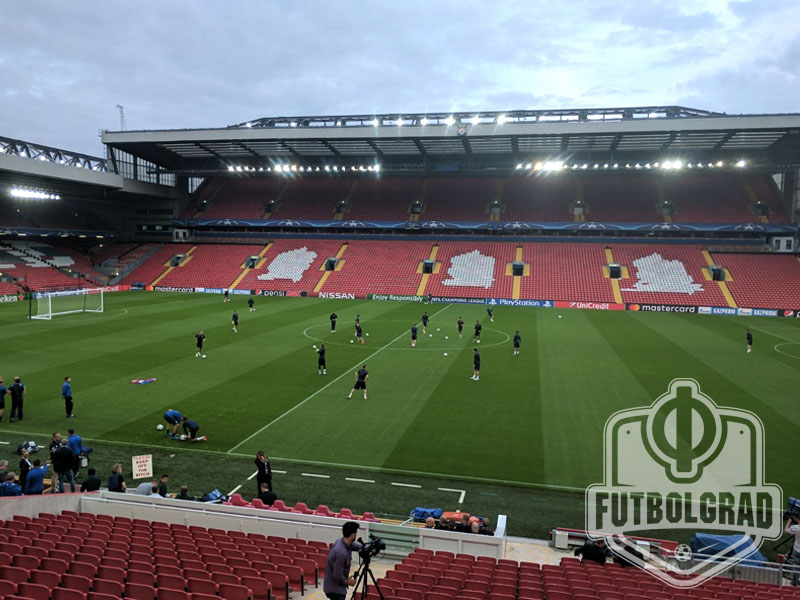 Anfield, Liverpool, will play host to Liverpool vs Hoffenheim on Wednesday night (Photo: Chris Williams / Futbolgrad Network)