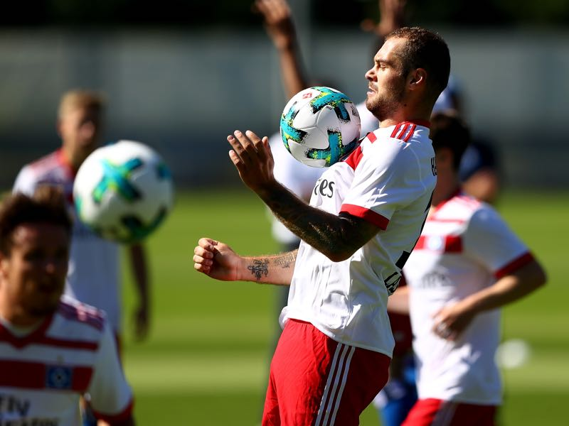 Pierre-Michel Lasogga spent the pre-season with Hamburg, but his contract situation means that die Rothosen want to sell the striker. (Photo by Martin Rose/Bongarts/Getty Images)