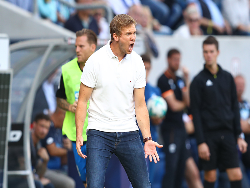 Julian Nagelsmann, how long is he willing to work at a feeder club? (Photo by Alexander Hassenstein/Bongarts/Getty Images)