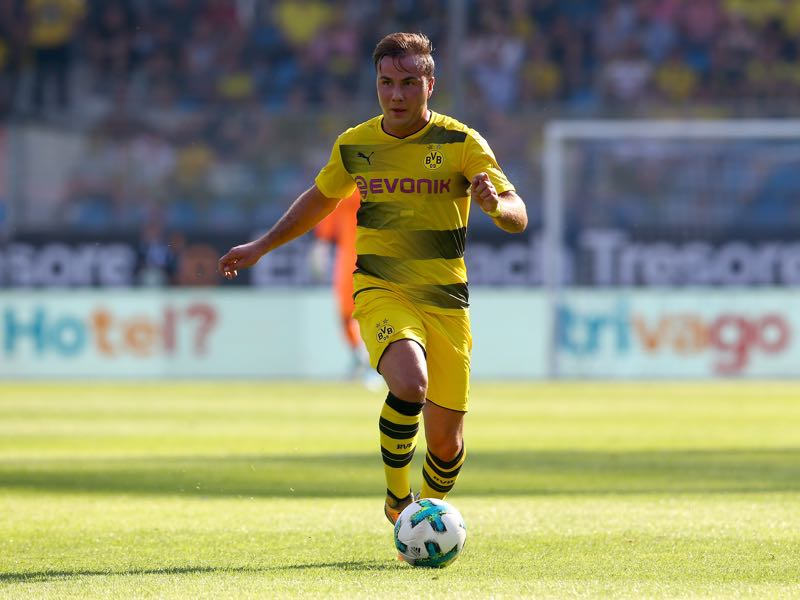 Mario Götze increasingly looks like his former self. (Photo by Christof Koepsel/Bongarts/Getty Images)