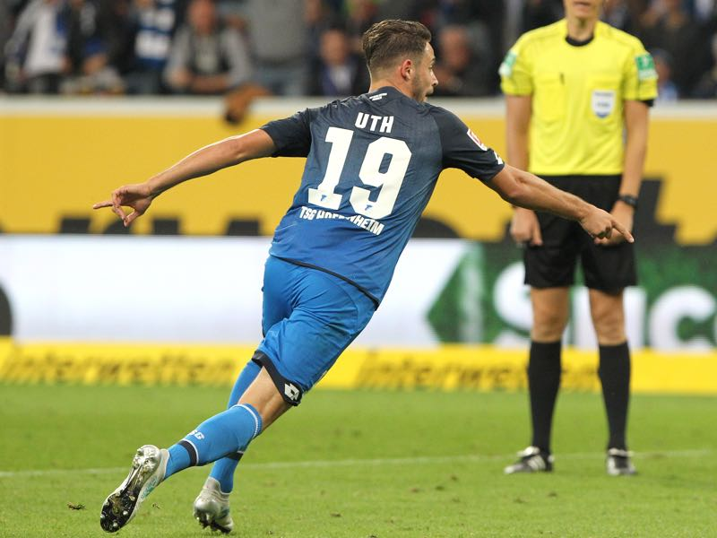 Mark Uth has been on fire for Hoffenheim. (DANIEL ROLAND/AFP/Getty Images)
