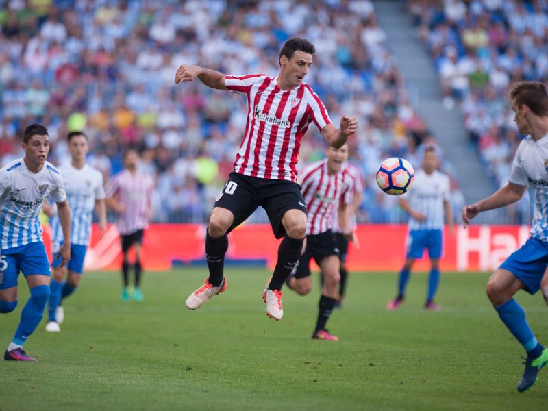 Aritz Aduriz is Bilbao's key player for this match. (JORGE GUERRERO/AFP/Getty Images)