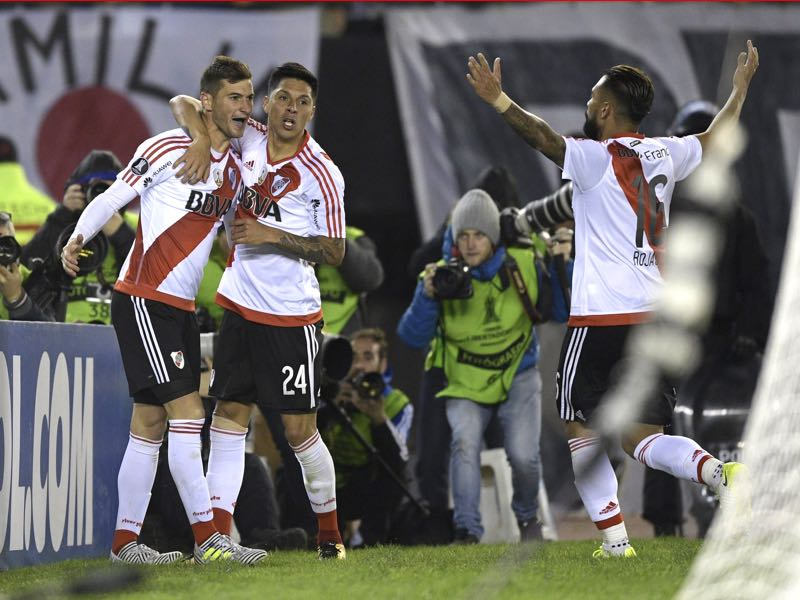 Lucas Alario has always scored the important goals for River Plate. (JUAN MABROMATA/AFP/Getty Images)