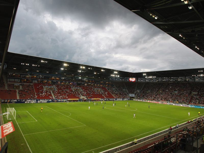 Augsburg vs Leipzig will take place at the WWK arena in Augsburg. (Photo by Alexander Hassenstein/Bongarts/Getty Images)