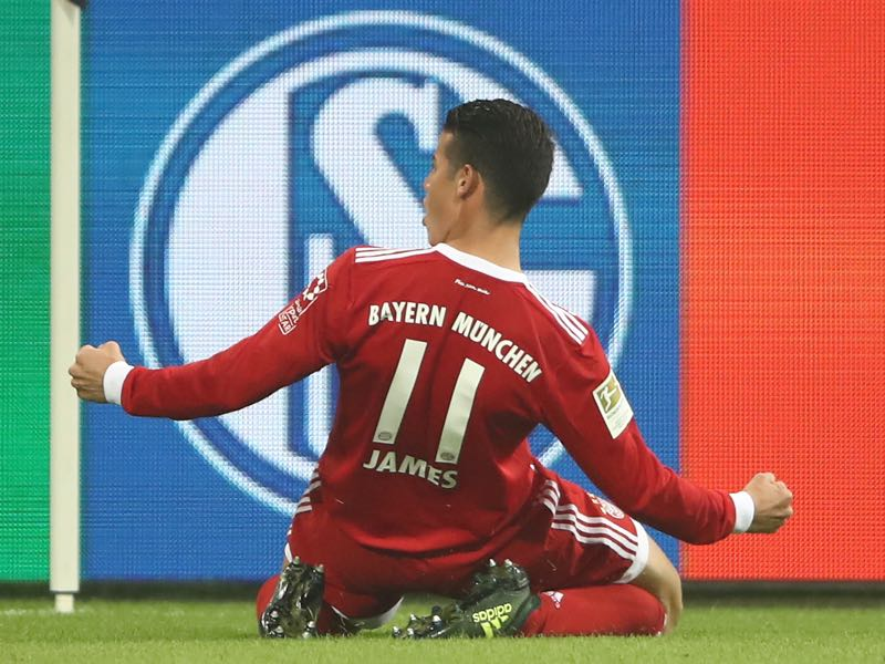 Bayern vs Dortmund - James Rodríguez has created a goal scoring chance every 28 minutes this season. (Photo by Alex Grimm/Bongarts/Getty Images)