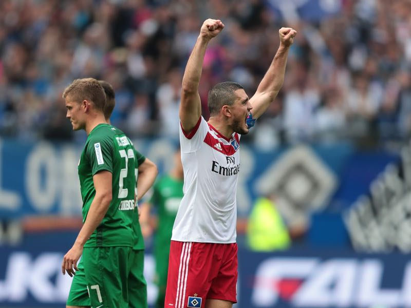 Kyriakos Papdopoulos is Hamburg's emotional leader. (Photo by Oliver Hardt/Bongarts/Getty Images)