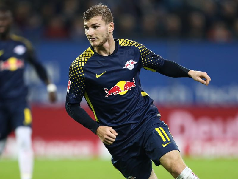 The development of Timo Werner away from home shows that Arp may have to leave Hamburg at some point. (Photo by Oliver Hardt/Bongarts/Getty Images)