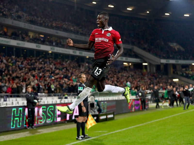 Ihlas Bebou from Hannover 96 was among the scorers on matchday 4. (Photo by Martin Rose/Bongarts/Getty Images)