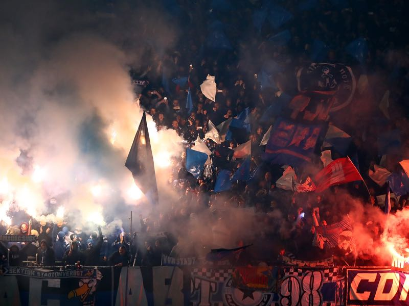 Hamburg fans dominated the headlines ahead of the game. (Photo by Martin Rose/Bongarts/Getty Images)