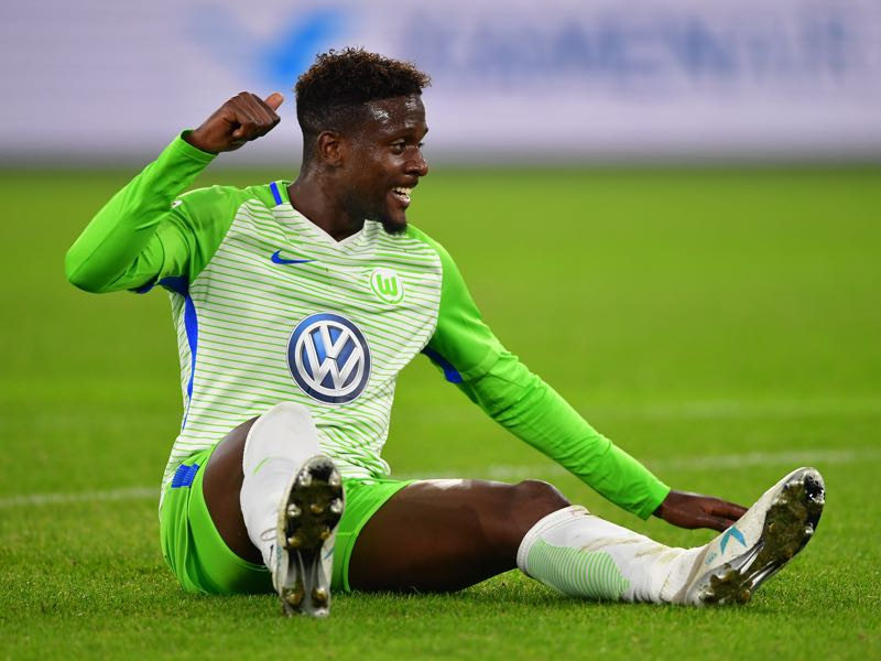 Divock Origi scored his first goal for Wolfsburg on Wednesday. (Photo by Stuart Franklin/Bongarts/Getty Images)