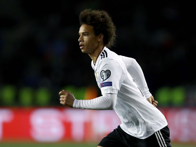 Leroy Sané is one to watch when Germany host Azerbaijan. (Photo by Alexander Hassenstein/Bongarts/Getty Images)