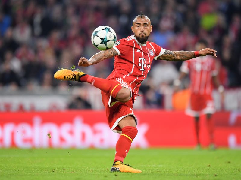 Arturo Vidal is both artist and warrior. (Photo by Sebastian Widmann/Bongarts/Getty Images )