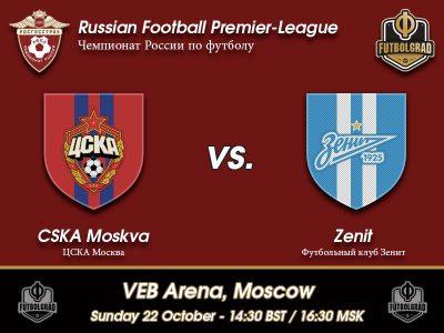CSKA Moscow vs Zenit Saint Petersburg – RFPL Preview