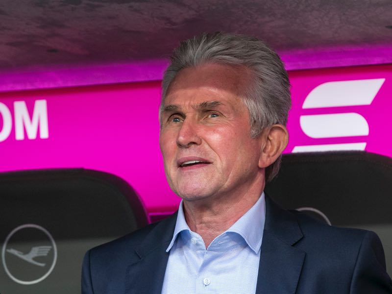 Jupp Heynckes enjoyed his return to the Allianz Arena. (Photo by Jan Hetfleisch/Bongarts/Getty Images)