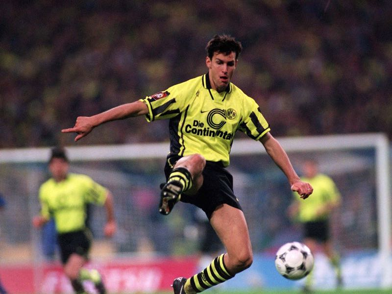 Heiko Herrlich ended his career with Borussia Dortmund in 2004. (Photo by Bongarts/Getty Images)