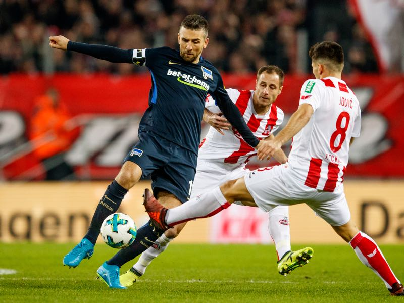 Köln v Hertha - Vedad Ibisević was the man of the match. (Photo by Lars Baron/Bongarts/Getty Images)