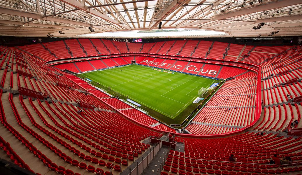 Athletic vs Marseille will take place at the San Mames in Bilbao. (Photo by Juan Manuel Serrano Arce/Getty Images)