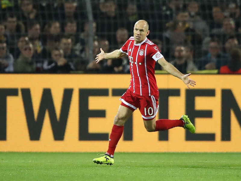 Arjen Robben was the man of the match. (Photo by Alex Grimm/Bongarts/Getty Images)