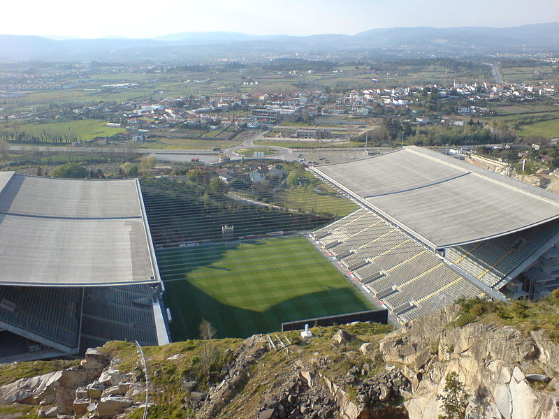 The Europa League match Braga vs Hoffenheim will take place at the Estádio Municipal de Braga – Image by 準建築人手札網站 Forgemind ArchiMedia CC-BY-2.0