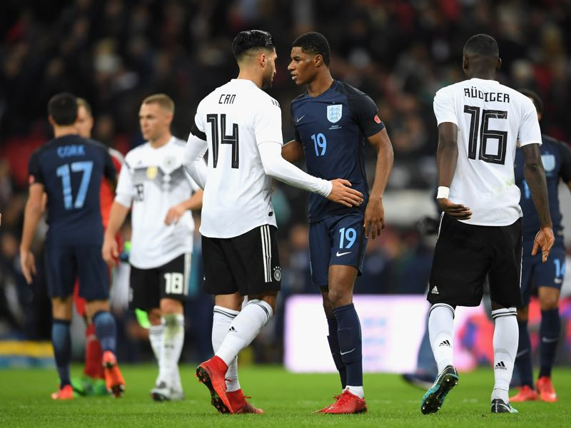 England v Germany started with plenty of promise but fizzled out in the second half. (Photo by Laurence Griffiths/Getty Images)