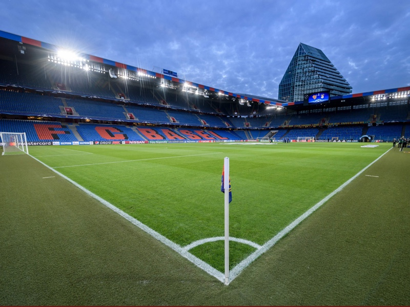 Basel vs Manchester City will take place at the St. Jakob Park in Basel. (FABRICE COFFRINI/AFP/Getty Images)