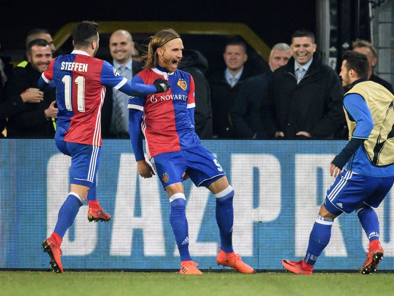 Michael Lang provided the moment of the match. (FABRICE COFFRINI/AFP/Getty Images)