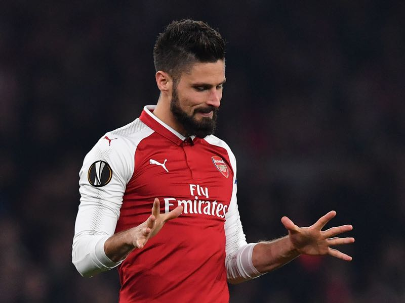 Olivier Giroud will be Arsenal's key player in the match against Köln. (BEN STANSALL/AFP/Getty Images)