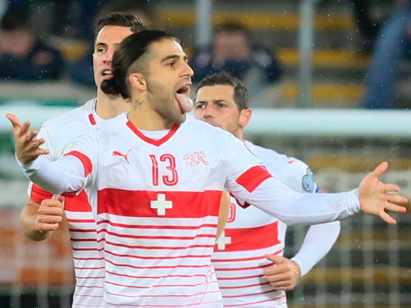 Northern Ireland v Switzerland - Ricardo Rodriguez celebrates
