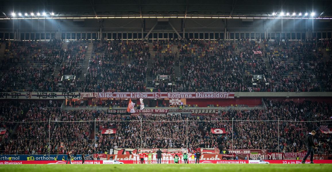 Fortuna Düsseldorf vs Bayern will take place at the MERKUR-Spiel ARENA in Düsseldorf. (Photo by Lukas Schulze/Bongarts/Getty Images)
