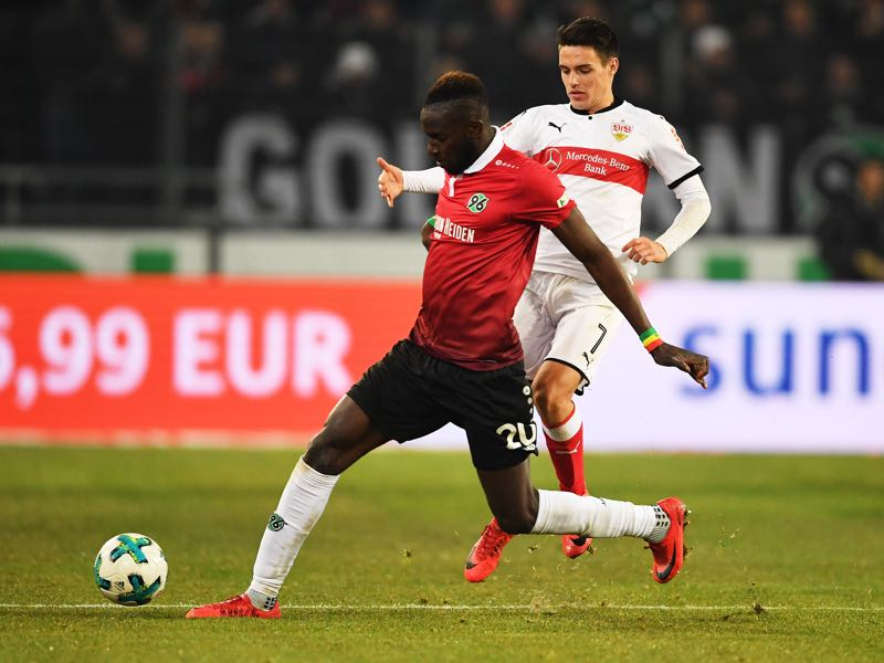 Hannover 96 v VfB Stuttgart - Salif Sané was the man of the match. (Photo by Stuart Franklin/Bongarts/Getty Images)