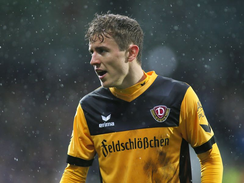 Niklas Hauptmann is Dynamo Dresden's crucial player. (Photo by Selim Sudheimer/Bongarts/Getty Images)