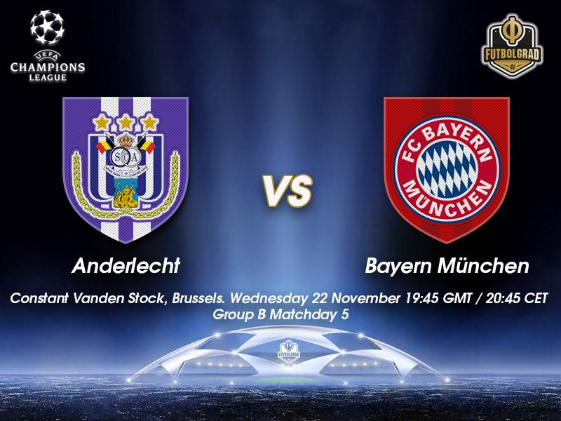 Anderlecht vs Bayern – Champions League – Preview