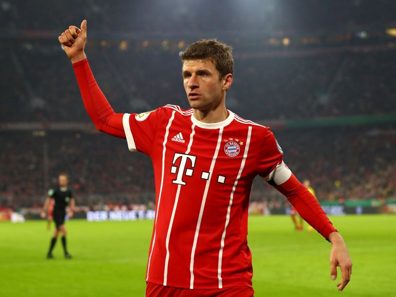 Bayern v Dortmund - Thomas Müller was the player of the match. (Photo by Alexander Hassenstein/Bongarts/Getty Images)