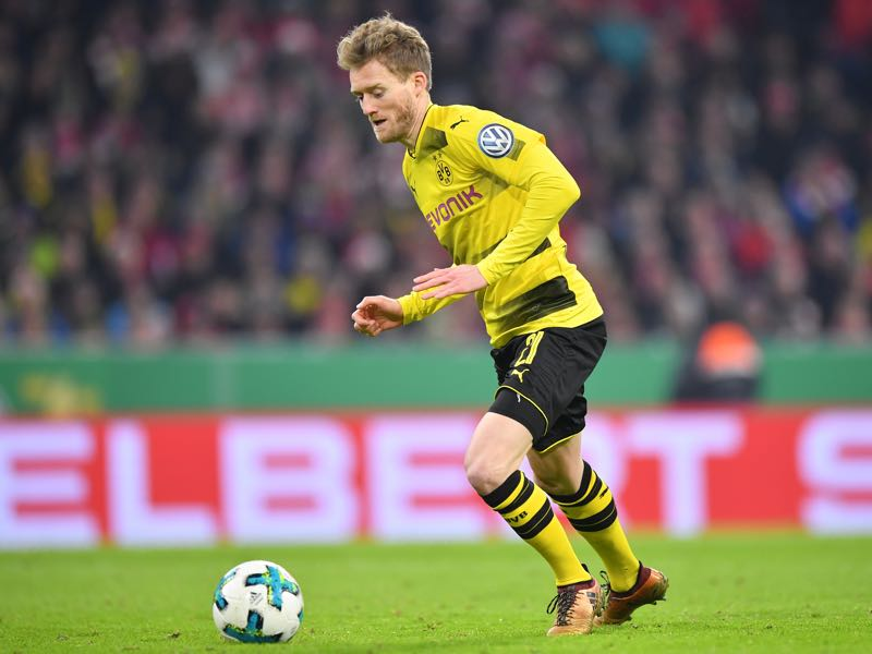 André Schürrle came on against Bayern in the Pokal. (Photo by Sebastian Widmann/Bongarts/Getty Images)