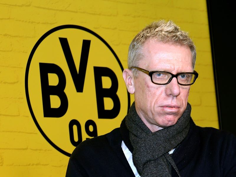 Peter Stöger will be asked to stabilise Borussia Dortmund and reach a Champions League spot.  (Photo by Christof Koepsel/Bongarts/Getty Images)