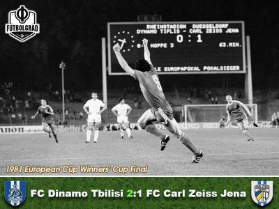 Dinamo Tbilisi vs Carl Zeiss Jena – 1981 Cup Winners' Cup Final Remembered