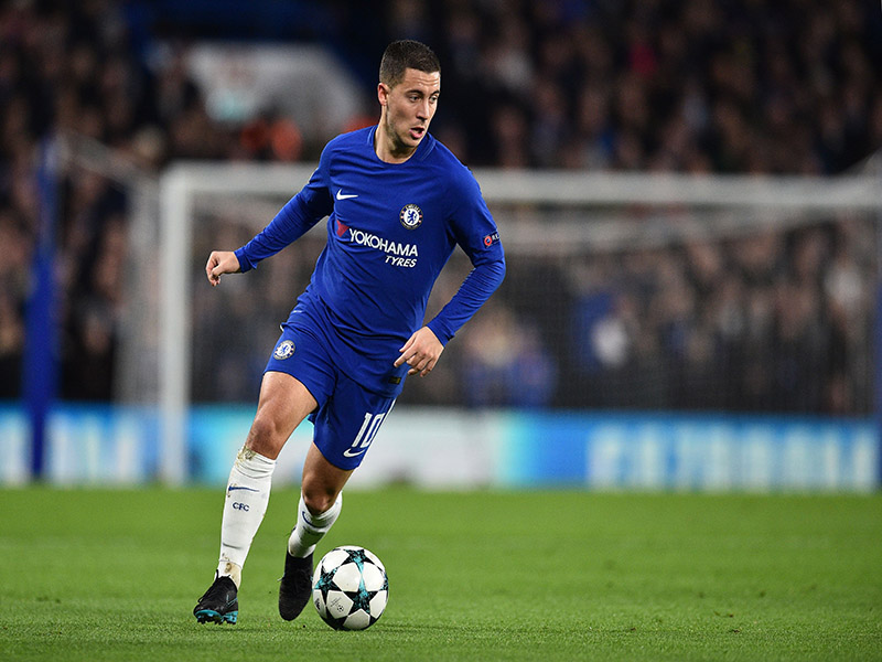 Chelsea v Atletico Madrid - Eden Hazard was the player of the match.