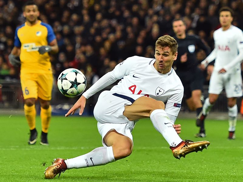 Tottenham v APOEL - Llorente was the player of the match.  (GLYN KIRK/AFP/Getty Images)
